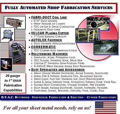 The fab 3 Group Fully Automated Fabrication Services